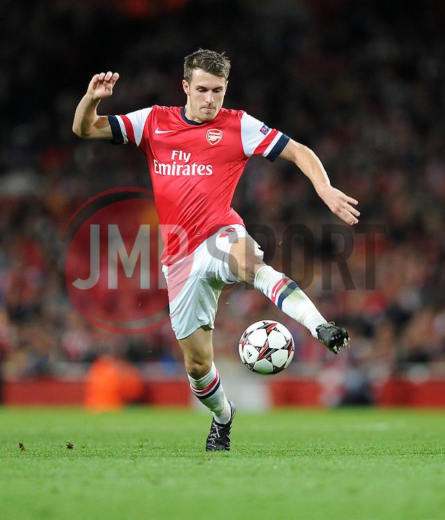 Arsenal's Aaron Ramsey - Photo mandatory by-line: Alex James/JMP - Tel: Mobile: 07966 386802 22/10/2013 - SPORT - FOOTBALL - Emirates Stadium - London - Arsenal v Borussia Dortmund - CHAMPIONS LEAGUE - GROUP F
