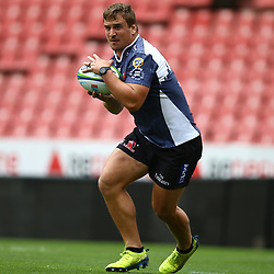 Ruan Dreyer of the Emirates Lions during the Emirates Lions Captain Run at the Emirates Airlines Park, South Africa. 23 February 2018 (Photo by Steve Haag/UAR)