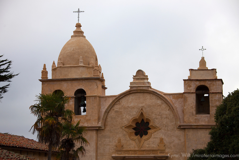 USA, California, Carmel by the Sea. Mission San Carlos de Borromeo de Carmelo, or Mission Carmel.