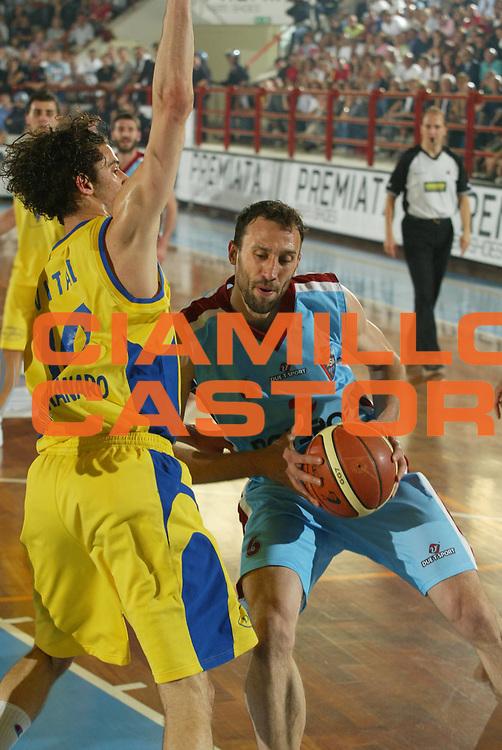 DESCRIZIONE : Porto San Giorgio Lega A2 2005-06 Play Off Finale Gara 4 Premiata Montegranaro Noi Sport Monte Terminillo Rieti <br />GIOCATORE : Feliciangeli<br />SQUADRA : Noi Sport Monte Terminillo Rieti <br />EVENTO : Campionato Lega A2 2005-2006 Play Off Finale Gara 4 <br />GARA : Premiata Montegranaro Noi Sport Monte Terminillo Rieti <br />DATA : 04/06/2006 <br />CATEGORIA : Palleggio<br />SPORT : Pallacanestro <br />AUTORE : Agenzia Ciamillo-Castoria/M.Marchi