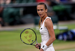 Magdalena Rybarikova during her match against Coco Vandeweghe on day eight of the Wimbledon Championships at The All England Lawn Tennis and Croquet Club, Wimbledon.
