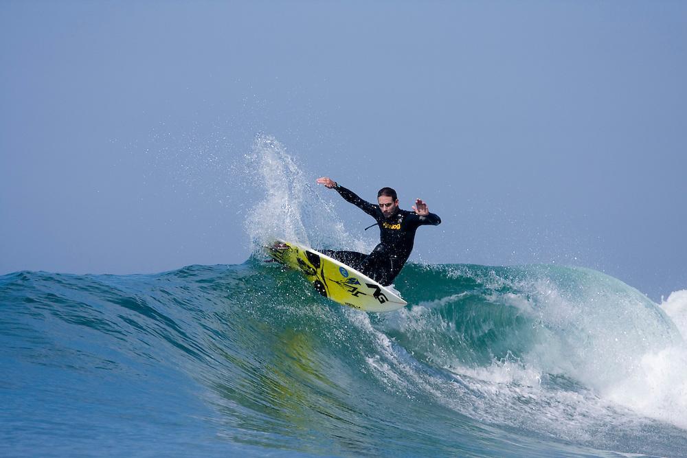 Josh Hoyer, Surfing Action, Newport Beach, 2009
