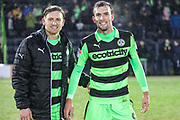 Forest Green Rovers Dayle Grubb(8) and Forest Green Rovers Christian Doidge(9) during the EFL Sky Bet League 2 match between Forest Green Rovers and Cambridge United at the New Lawn, Forest Green, United Kingdom on 20 January 2018. Photo by Shane Healey.