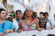 Roma 23 Giugno 2012.GayPride 2012.La Sfilata del Gay pride, la giornatà dell' orgoglio omossessuale per le vie della città. Vladimir Luxuria