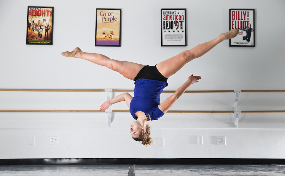 Hannah Kier, a sophomore at Grand Island Senior High, poses for a portrait at Smitty's Performing Arts Center in Grand Island. Kier is also a dance captain in senior high's show choir. (Independent/Matt Dixon)