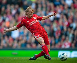 25.09.2010, Anfield Road, Liverpool, ENG, PL, Liverpool FC vs Sunderland, im Bild Liverpool's Dirk Kuyt scores his side's opening goal<br /> <br /> ***NETHERLANDS ONLY***