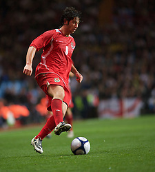 BIRMINGHAM, ENGLAND - Monday, October 13, 2008: Wales' Joe Jacobson in action against England during the UEFA European Under-21 Championship Play-Off 2nd Leg match at Villa Park. (Photo by Gareth Davies/Propaganda)