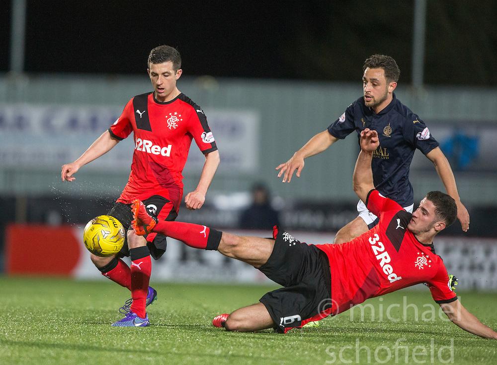 Falkirk's Tom Taiwo. <br /> Falkirk 3 v 2 Rangers, Scottish Championship game player at The Falkirk Stadium, 18/3/2016.
