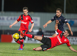Falkirk's Tom Taiwo. <br /> Falkirk 3 v 2 Rangers, Scottish Championship game player at The Falkirk Stadium, 18/3/2016.
