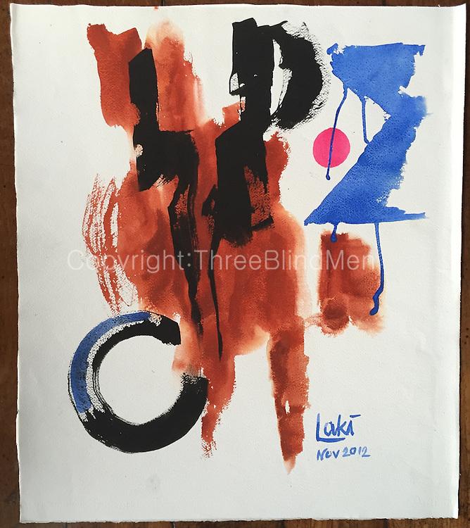 Laki. Equinox. 2012<br /> WC on Paper.<br /> 22&quot; x 28&quot;<br /> November 2012 <br /> <br /> 200