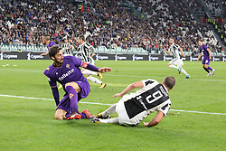 September 20, 2017 - Turin, Piedmont, Italy - Gonzalo Higuain (Juventus FC) and Davide Astori (ACF Fiorentina) during the Serie A football match between Juventus FC and ACF Fiorentina at Allianz Stadium on 20 September, 2017 in Turin, Italy. .Juventus win 1-0 over Fiorentina. (Credit Image: © Massimiliano Ferraro/NurPhoto via ZUMA Press)
