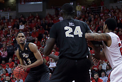 20 March 2017:  A.J. Davis during a College NIT (National Invitational Tournament) 2nd round mens basketball game between the UCF (University of Central Florida) Knights and Illinois State Redbirds in  Redbird Arena, Normal IL