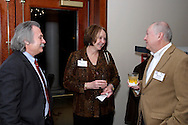 (from left) Bob Yeck of Yeck Brothers Company, Joanie Spain of school of advertising art and Norm Vallone of NJ Vallone Marketing Strategist during the holiday meeting of the American Advertising Federation at the NCR Country Club in Kettering, Thursday, December 15, 2011.