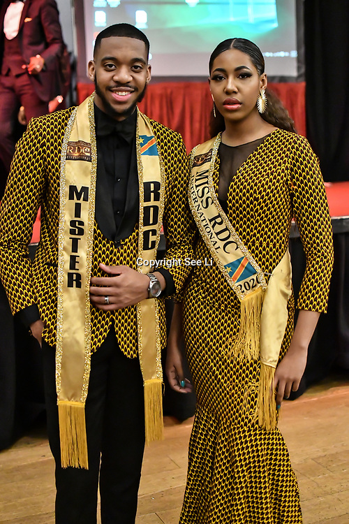 Mister RDC International 2020 - Jamiroquai Luzolo & Miss RDC International 2020 - Alexandra Lea Tula attend the Mr & Miss Congo 2020,on 29th February 2020 at Old Townhall,Stratford, London, UK.