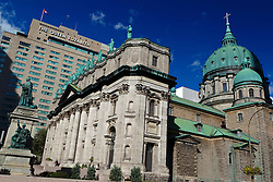 Exterior of Cathédrale Marie-Reine-du-Monde / Mary, Queen of the World Cathedral / Basilica, Centre Ville, downtown, Montreal, Quebec, Canada