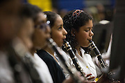 Students perform during the Milpitas Unified School District's 11th Annual Music Festival at Milpitas High School in Milpitas, California, on April 10, 2014. (Stan Olszewski/SOSKIphoto)