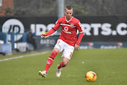 Walsall Defender, Jason Demetriou on the ball during the Sky Bet League 1 match between Bury and Walsall at Gigg Lane, Bury, England on 16 January 2016. Photo by Mark Pollitt.