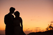 Romantic sunset wedding portraits by photographer Courtney Platt, Grand Cayman, Cayman Islands.