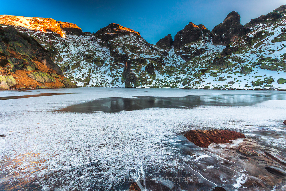 Frozen lake in Rila mountain