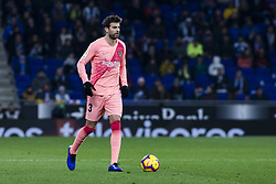 December 8, 2018 - Barcelona, Catalonia, Spain - 03 Gerard Pique of FC Barcelona during the Spanish championship La Liga football match between RCD Espanyol v FC Barcelona on December 08, 2018 at RCD Stadium stadium in Barcelona, Spain. (Credit Image: © Xavier Bonilla/NurPhoto via ZUMA Press)