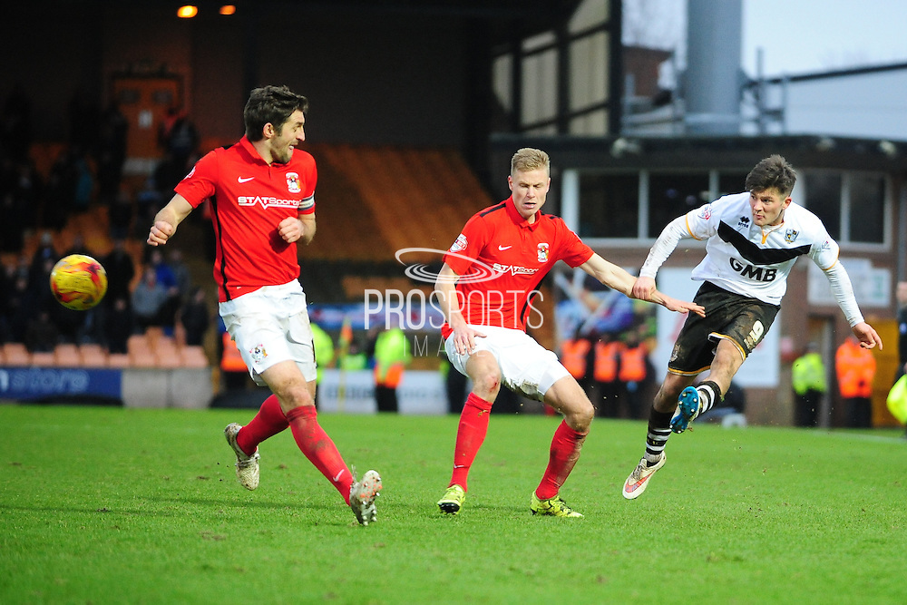 Matthew Kennedy of Port Vale during the Sky Bet League 1 match between Port Vale and Coventry City at Vale Park, Burslem, England on 7 February 2016. Photo by Mike Sheridan.