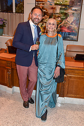 Arnaud Champenois and Daphne Selfe at the Belmond Cadogan Hotel Grand Opening, Sloane Street, London England. 16 May 2019. <br /> <br /> ***For fees please contact us prior to publication***