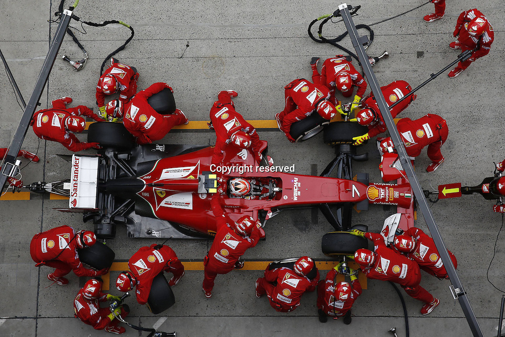 20.04.2014. SHanghai, China.  Motorsports: FIA Formula One World Championship 2014, Grand Prix of China, 7 Kimi Raikkonen (FIN, Scuderia Ferrari) in the pits for tyre change