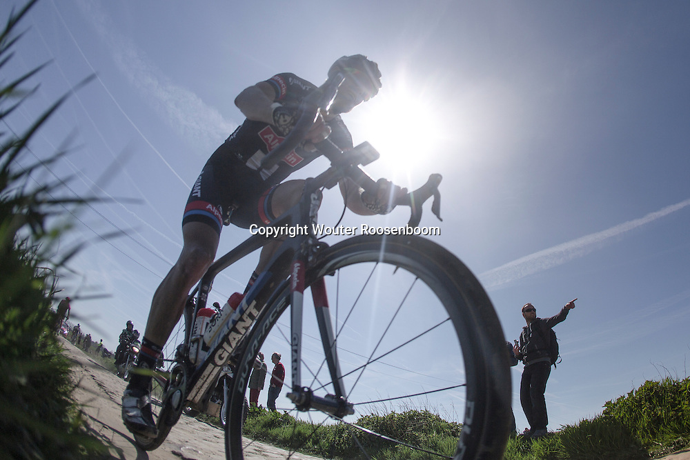 12-04-2015  Paris - Roubaix France - wielrennen - cycling - radsport - cyclisme -  pictured during tParis - Roubaix 2015 UCI - WC - world cup race from Compiegne to Roubaix - photo Wouter Roosenboom ( www.procycleshots.com)