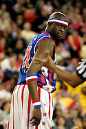 "04 May 2006: Kevin ""Special K"" Daley shows his disgust to a call during the Harlem Globetrotters vs the New York Nationals at the Sulivan Arena in Anchorage Alaska during their 80th Anniversary World Tour.  This is the first time in 10 years that the Trotters have visited Alaska."