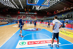 Before friendly match between National teams of Slovenia and Bosnia and Herzegovina for Eurobasket 2013 on August 16, 2013 in Podmezakla, Jesenice, Slovenia. (Photo by Urban Urbanc / Sportida.com)