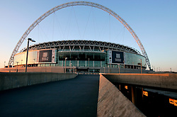 UK ENGLAND LONDON 21MAR07 - General view of the finished Wembley National Stadium, built by Australian firm Multiplex. The previous Wembley Stadium (officially the Empire Stadium, but called Wembley due to its location) was arguably the world's most famous football stadium, being England's national stadium for football. In 2002, the original structure was demolished and construction began on the new stadium, originally intended to open in 2006. This was later delayed until early 2007. The final completion date of the stadium came on 9 March 2007, when the keys to the stadium were handed over to The Football Association...jre/Photo by Jiri Rezac..© Jiri Rezac 2007..Contact: +44 (0) 7050 110 417.Mobile:  +44 (0) 7801 337 683.Office:  +44 (0) 20 8968 9635..Email:   jiri@jirirezac.com.Web:    www.jirirezac.com..© All images Jiri Rezac 2007 - All rights reserved.