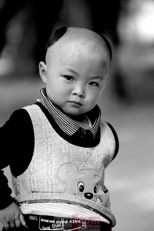 Portrait a Lanzhou en Chine dans le Gansu, novembre 2008