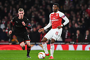 Arsenal Midfielder Ainsley Maitland-Niles (15) during the Europa League round of 16, leg 2 of 2 match between Arsenal and Rennes at the Emirates Stadium, London, England on 14 March 2019.