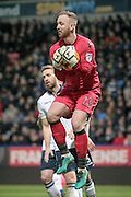 Ben Alnwick (Bolton Wanderers) makes a save during the EFL Sky Bet League 1 match between Bolton Wanderers and Scunthorpe United at the Macron Stadium, Bolton, England on 31 December 2016. Photo by Mark P Doherty.