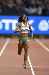 August 8, 2017 - London, England, United Kingdom - Lorène Dorcas BAZOLO, Portugal, during 200 meter  heats in London at the 2017 IAAF World Championships athletics on August 8, 2017. (Credit Image: © Ulrik Pedersen/NurPhoto via ZUMA Press)