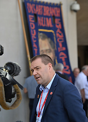 Pictured: Neil Findlay MSP after the announcement.<br /> <br /> Justice Secretary Michael Matheson announced and independent inquiry into policing tactics and policy during the 1884/ EEm