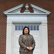 Mudia Melendez, minister at Jesus Ministry  Inc. , outside of the sanctuary of Statesville Road Baptist Church on January 9, 2016 in Charlotte, NC. (Logan R. Cyrus for NPR)