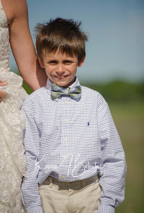Jake and Amelya's wedding day on the beach.  ©2014 Karen Bobotas Photographer