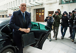 © Licensed to London News Pictures. 20/03/2016. London, UK. Former Work and Pensions secretary, IAIN DUNCAN SMITH arrives at BBC Broadcasting House in London to appear on The Andrew Marr Show. Duncan Smith resigned earler this week, claiming that George OSbornes budget cuts had gone too far.  Photo credit: Ben Cawthra/LNP