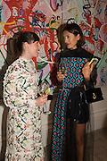 SARAH MORALIOGLU;  Hikari Yokoyama, , Royal Academy Summer exhibition party. Piccadilly. 7 June 2016