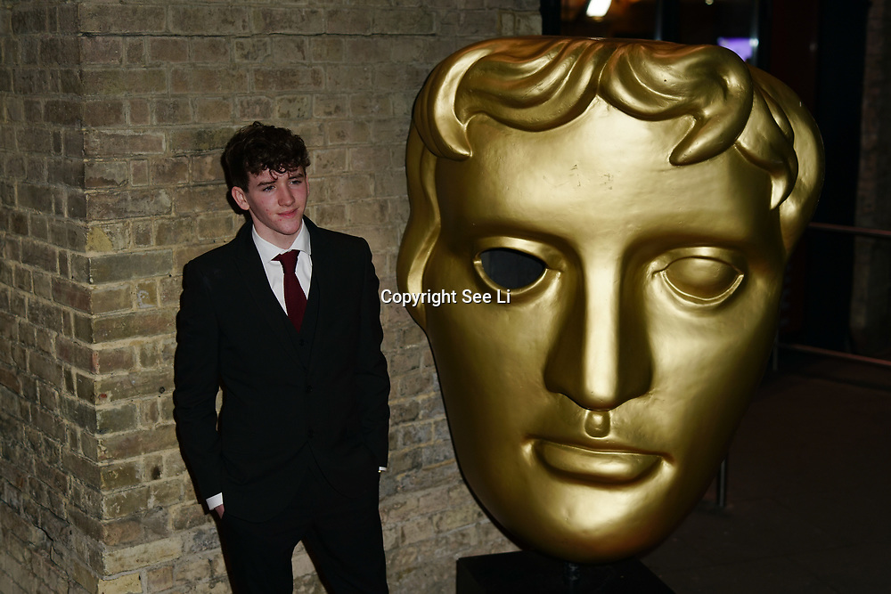 London, England, UK. 26th November 2017. Art Parkinson attend the British Academy Children's Awards 2017 at the Roundhouse.
