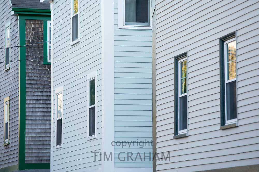 Traditional clapboard homes in Newport, Rhode Island, USA