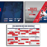 Photographs: Boston Red Sox Pocket Schedule - 2016