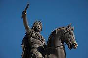 Statue to honour King Louis XIV as Roman Emperor, in Place du Peyrou in Montpellier, south of France.
