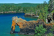 Lion's Head rock on Lake Superior<br /> Sleeping Giant Provincial Park<br /> Ontario<br /> Canada