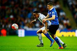Nathaniel Clyne of England under pressure from Artur Pikk of Estonia - Mandatory byline: Jason Brown/JMP - 07966 386802 - 09/10/2015- FOOTBALL - Wembley Stadium - London, England - England v Estonia - Euro 2016 Qualifying - Group E