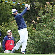 Ryder Cup 2016.  Brandt Snedeker of the United States during practice day at the Hazeltine National Golf Club on September 28, 2016 in Chaska, Minnesota.  (Photo by Tim Clayton/Corbis via Getty Images)