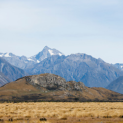 Mount Sunday (aka LOTR's Edoras), South Island of New Zealand