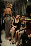 Elle Macpherson, Amy Sacco and Diana Kamalova, Natalia Vodianova and Elle Macpherson host a dinner in honor of Francisco Costa (creative Director for women) and Italo Zucchelli (creative director for men)  of Calvin Klein. Locanda Locatelli, 8 Seymour St. London W1. ONE TIME USE ONLY - DO NOT ARCHIVE  © Copyright Photograph by Dafydd Jones 66 Stockwell Park Rd. London SW9 0DA Tel 020 7733 0108 www.dafjones.com