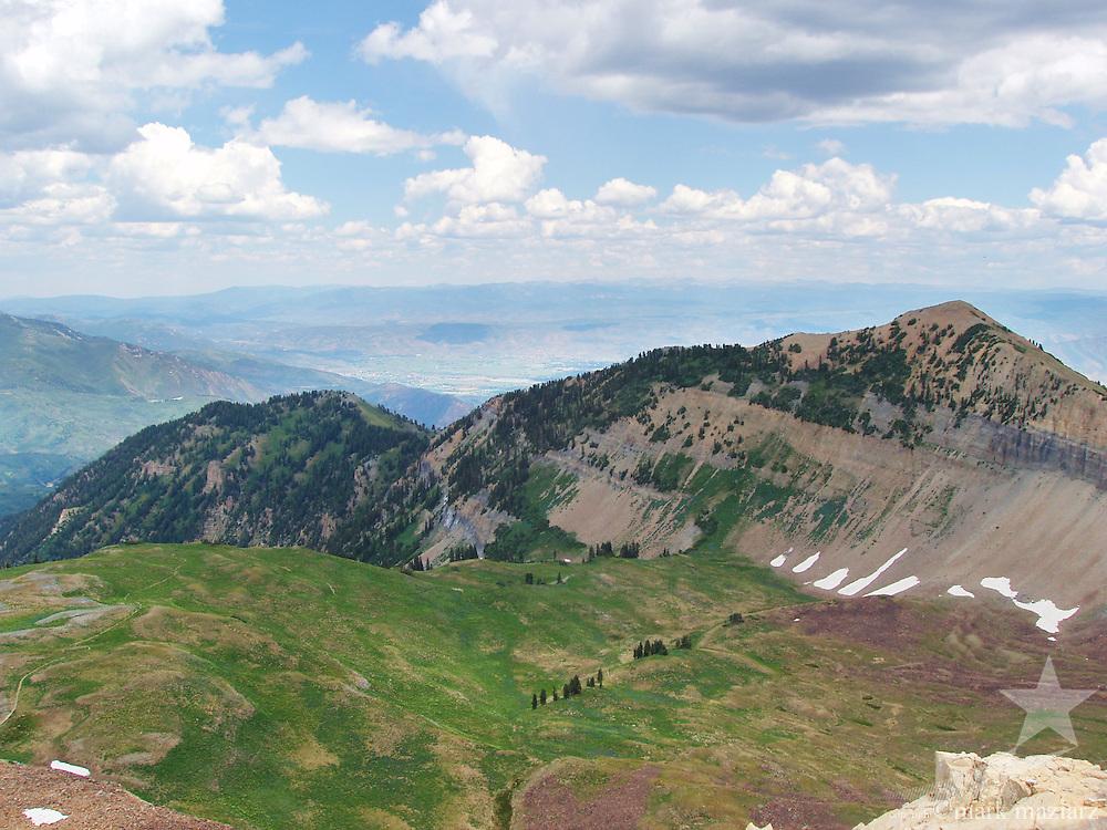 Hiking on Mt. Timpanogos, Utah.